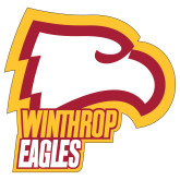 Extra Large Decal-Winthrop Eagles w/ Eagle Head, 18in Tall