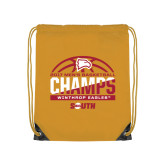 Gold Drawstring Backpack-2017 Mens Basketball Champions Basketball