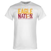White T Shirt-Eagle Nation