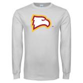 White Long Sleeve T Shirt-Eagle Head