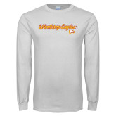 White Long Sleeve T Shirt-Scripted