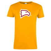 Ladies Gold T Shirt-Eagle Head