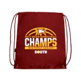 Cardinal Drawstring Backpack-2017 Mens Basketball Champions Basketball