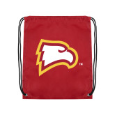 Cardinal Drawstring Backpack-Eagle Head