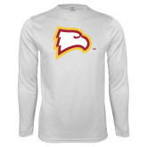 Performance White Longsleeve Shirt-Eagle Head