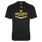 Under Armour Black Tech Tee-Baseball Plate