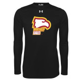 Under Armour Black Long Sleeve Tech Tee-Winthrop Eagles w/ Eagle Head