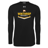 Under Armour Black Long Sleeve Tech Tee-Baseball Plate