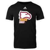 Adidas Black Logo T Shirt-Winthrop Eagles w/ Eagle Head