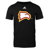 Adidas Black Logo T Shirt-Eagle Head
