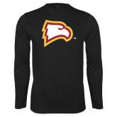 Performance Black Longsleeve Shirt-Eagle Head