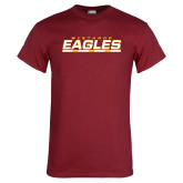 Cardinal T Shirt-Winthrop Eagles Stacked w/ Bar