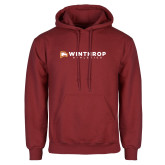 Cardinal Fleece Hoodie-Winthrop Athletics Flat