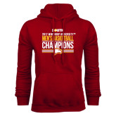 Cardinal Fleece Hoodie-2017 Mens Basketball Champions Stacked