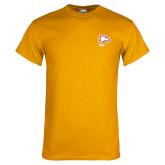 Gold T Shirt-Winthrop Eagles w/ Eagle Head
