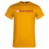 Gold T Shirt-Winthrop Athletics Flat