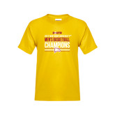 Youth Gold T Shirt-2017 Mens Basketball Champions Stacked