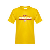 Youth Gold T Shirt-2017 Mens Basketball Champions Repeating