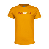 Youth Gold T Shirt-Rock The Hill