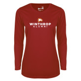Ladies Syntrel Performance Cardinal Longsleeve Shirt-Alumni