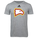 Adidas Sport Grey Logo T Shirt-Eagle Head