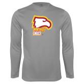 Performance Steel Longsleeve Shirt-Winthrop Eagles w/ Eagle Head