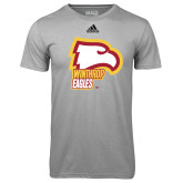 Adidas Climalite Sport Grey Ultimate Performance Tee-Winthrop Eagles w/ Eagle Head