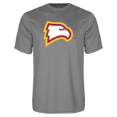 Performance Grey Concrete Tee-Eagle Head