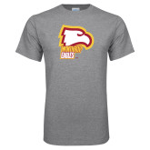 Grey T Shirt-Winthrop Eagles w/ Eagle Head