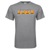 Grey T Shirt-Winthrop Eagles Stacked w/ Bar