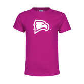 Youth Cyber Pink T Shirt-Eagle Head