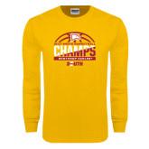 Gold Long Sleeve T Shirt-2017 Mens Basketball Champions Basketball