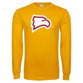 Gold Long Sleeve T Shirt-Eagle Head