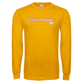 Gold Long Sleeve T Shirt-Scripted