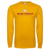 Gold Long Sleeve T Shirt-Winthrop Athletics
