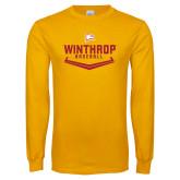 Gold Long Sleeve T Shirt-Baseball Plate