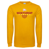 Gold Long Sleeve T Shirt-Sharp Net Basketball
