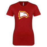 Next Level Ladies SoftStyle Junior Fitted Cardinal Tee-Eagle Head