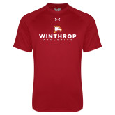 Under Armour Cardinal Tech Tee-Winthrop Athletics