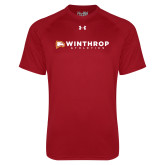 Under Armour Cardinal Tech Tee-Winthrop Athletics Flat