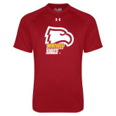 Under Armour Cardinal Tech Tee-Winthrop Eagles w/ Eagle Head