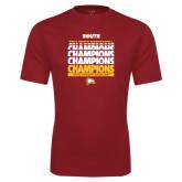 Performance Cardinal Tee-2017 Mens Basketball Champions Repeating