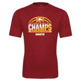 Performance Cardinal Tee-2017 Mens Basketball Champions Basketball