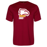 Performance Cardinal Tee-Winthrop Eagles w/ Eagle Head