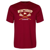 Performance Cardinal Tee-Lacrosse Crossed Sticks