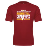Performance Cardinal Tee-2017 Mens Basketball Champions Stacked