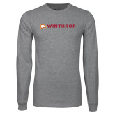 Grey Long Sleeve T Shirt-Primary Mark Flat