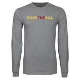 Grey Long Sleeve T Shirt-Rock The Hill