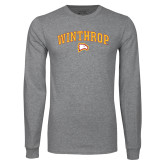 Grey Long Sleeve T Shirt-Arched