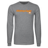 Grey Long Sleeve T Shirt-Scripted
